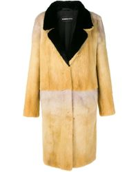 Numerootto - Fur Long Coat - Lyst
