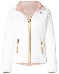 K-Way - Hooded Padded Jacket - Lyst
