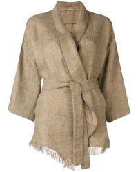 Brunello Cucinelli - Belted Kimono Jacket - Lyst