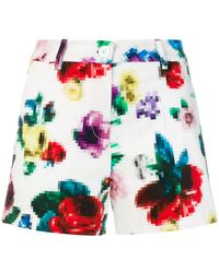 Love Moschino | Floral Pixel Shorts | Lyst