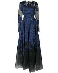 Oscar de la Renta - Long-sleeved Lace Gown - Lyst