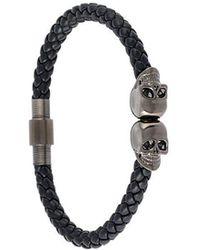 Northskull - Armband mit versilberten Totenkopf-Anhängern - Lyst