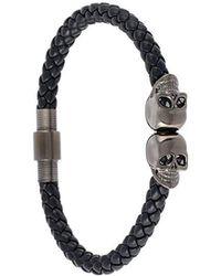 Northskull - Braided Skull Bracelet - Lyst
