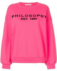 Philosophy Di Lorenzo Serafini - Logo-print Sweatshirt - Lyst