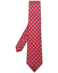 Kiton - Pattern Embroidered Tie - Lyst