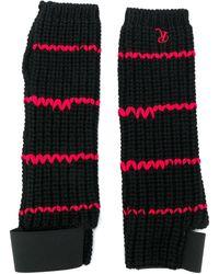 Raf Simons Contrast Knitted Gloves - Black