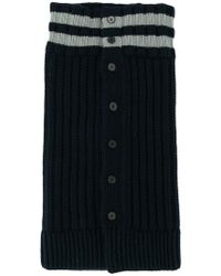 Jil Sander - Striped Cable-knit Scarf - Lyst