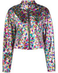 Jeremy Scott - Cropped Leather Jacket - Lyst