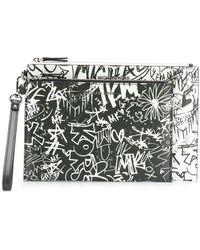 MICHAEL Michael Kors - Graffiti Clutch Bag - Lyst