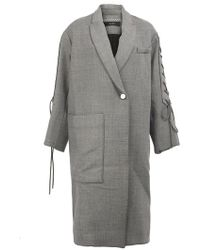 Ellery - Lace-up Sleeves Oversized Coat - Lyst