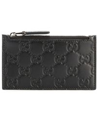 8dbcc8599e80 Gucci Rubber Ssima Leather Bi-fold Wallet in Black for Men - Lyst