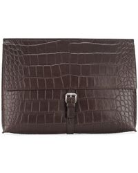 Orciani - Foldover Buckle Pouch - Lyst