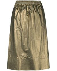 Ports 1961 - Metallic Flared Skirt - Lyst