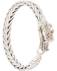 John Hardy - Silver And Sapphire Legends Naga Medium Bracelet - Lyst