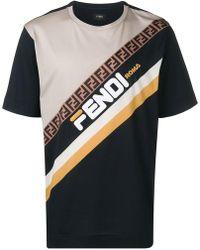 Fendi - Mania Paneled T-shirt - Lyst