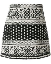 Moncler Gamme Rouge - Jacquard Skirt - Lyst
