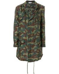 Faith Connexion - Camouflage Print Raincoat - Lyst