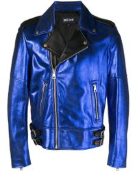 Just Cavalli - Metallic Biker Jacket - Lyst