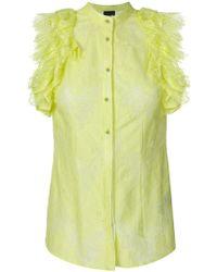 Just Cavalli | Lace Ruffle Shirt | Lyst