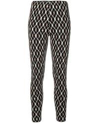 Elisabetta Franchi - Crepe-cady-stretch leggings - Lyst