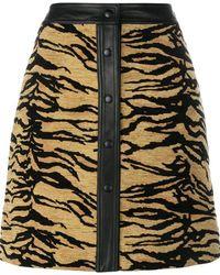 Adam Lippes - Tiger Print Skirt - Lyst