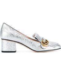Gucci - Galassia Silver Sandal - Lyst