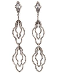 Loree Rodkin - Drop Diamond Earrings - Lyst