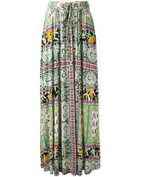 Etro - Floral Print Pleated Skirt - Lyst