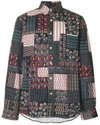 Public School - Camicia aderente con patchwork - Lyst