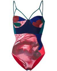 Angelys Balek - Bustier Swimsuit - Lyst