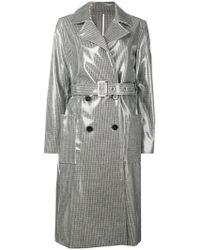 Calvin Klein - Check Rain Trench Coat - Lyst