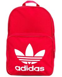 Adidas Classic Trefoil Backpack in Red for Men - Lyst 40b0b8060e59d