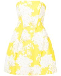 Monique Lhuillier - Hydrangea Strapless Dress - Lyst