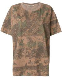 Yeezy - Leaf Print Oversized T-shirt - Lyst