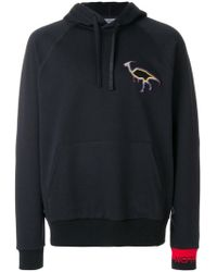 Lanvin - Embroidered Hoodie - Lyst