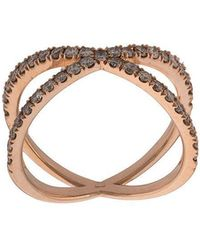Eva Fehren - Diamond Double-ring - Lyst