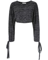 Giuliana Romanno - Long Sleeves Cropped Top - Lyst