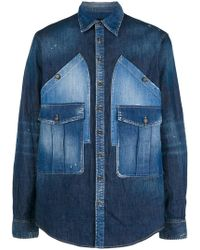 DSquared² - Denim Shirt With Oversized Pockets - Lyst