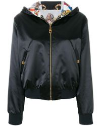 Versace - Reversible Baroque Hooded Bomber Jacket - Lyst