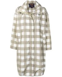 Woolrich - Checked Raincoat - Lyst