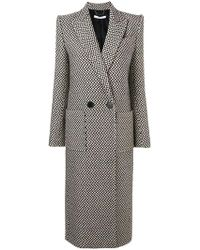 Givenchy - Houndstooth Double-breasted Coat - Lyst
