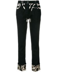 Prada - All Designer Products - Hibiscus Printed Jeans - Lyst