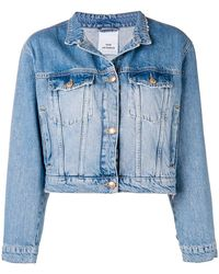 Won Hundred - Mandarin Collar Cropped Jacket - Lyst