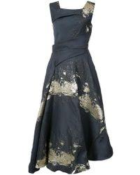 Rubin Singer - Textured Asymmetric Midi Dress - Lyst