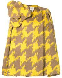 Delpozo - Textured Cape Coat - Lyst