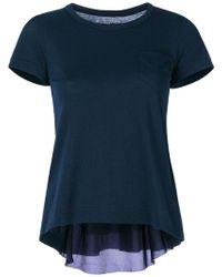 Sacai - Inverted Pleat T-shirt - Lyst