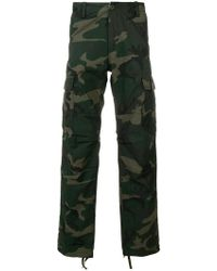 Carhartt - Camouflage Print Trousers - Lyst