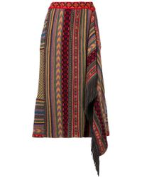 Etro - Patterned Asymmetric Skirt - Lyst