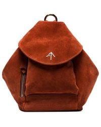 MANU Atelier - Brown Mini Fernweh Suede Shoulder Bag - Lyst