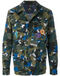 PS by Paul Smith - Camouflage Shirt Jacket - Lyst